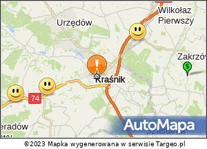 Mapa Polski Targeo. Kolumna Chełmska 5.08