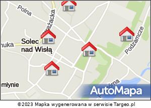 Mapa Polski Targeo. Noclegi kolumny III 5.08
