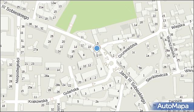 Głubczyce, 1 Maja, 1, mapa Głubczyce