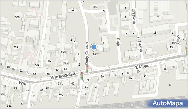 Katowice, 1 Maja, 1A, mapa Katowic
