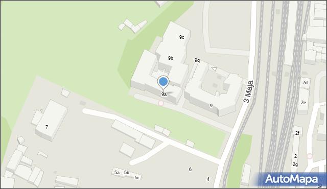 Gdańsk, 3 Maja, 9a, mapa Gdańska