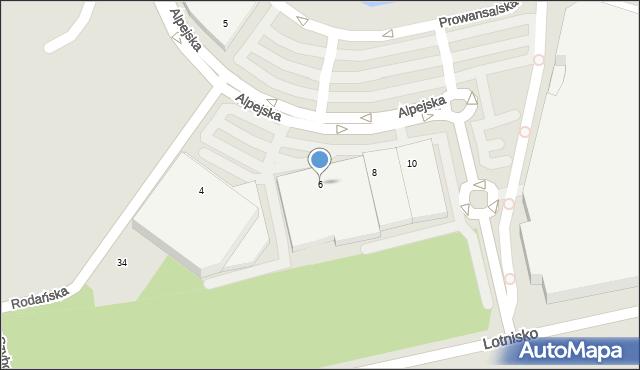 Katowice, Alpejska, 6, mapa Katowic