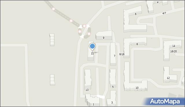 Olsztyn, Bilitewskiego Roberta, ks., 11, mapa Olsztyna