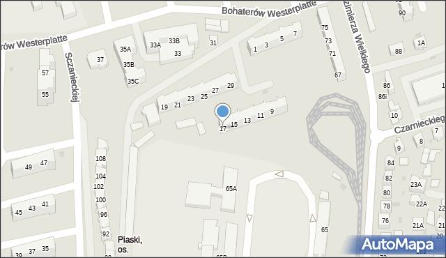 Gorzów Wielkopolski, Boh. Westerplatte, 17, mapa Gorzów Wielkopolski