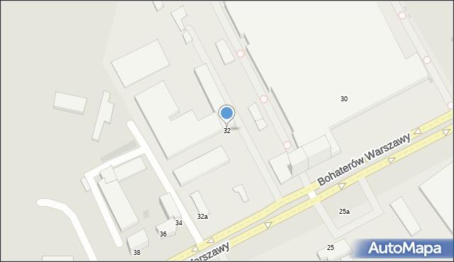 Koszalin, Boh. Warszawy, 32, mapa Koszalina