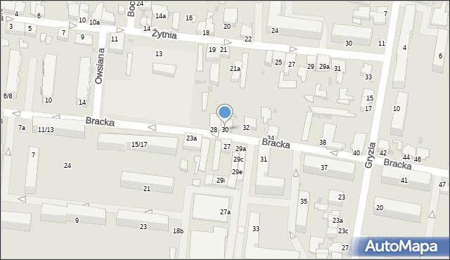 Pabianice, Bracka, 30, mapa Pabianic