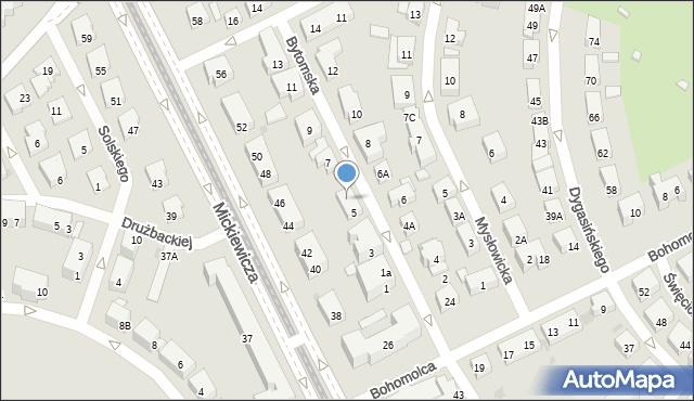 Warszawa, Bytomska, 5A, mapa Warszawy