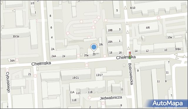 Warszawa, Chełmska, 20, mapa Warszawy