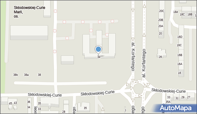 Zabrze, Curie-Skłodowskiej Marii, 34, mapa Zabrza