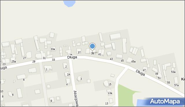 Kokorzyn, Długa, 39, mapa Kokorzyn