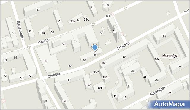 Warszawa, Dzielna, 58, mapa Warszawy