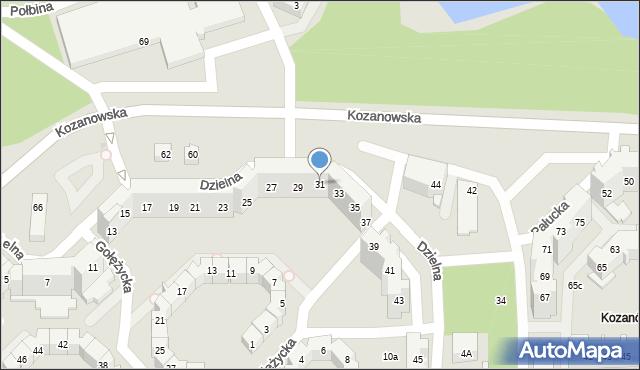Wrocław, Dzielna, 31, mapa Wrocławia