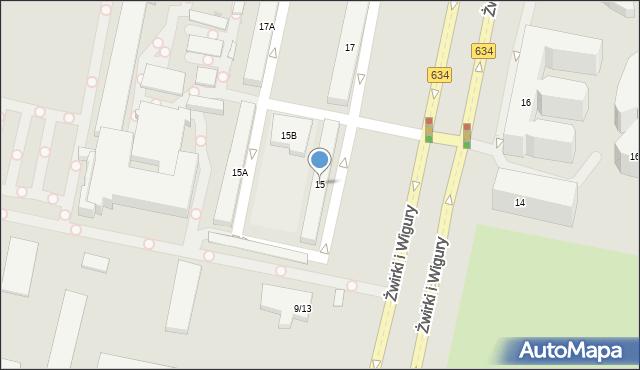 Warszawa, Franciszka Żwirki i Stanisława Wigury, 15, mapa Warszawy