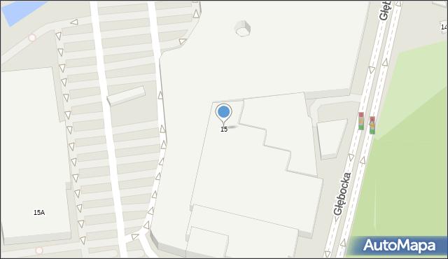 Warszawa, Głębocka, 15, mapa Warszawy