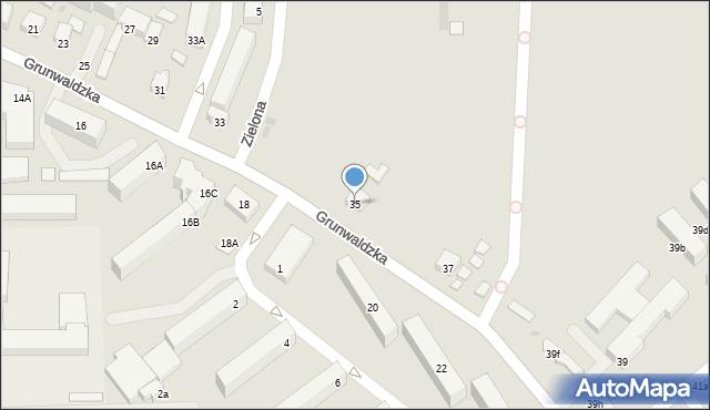 Ustka, Grunwaldzka, 35, mapa Ustka