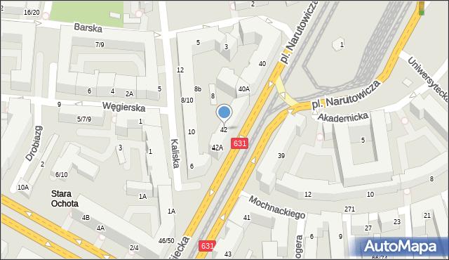 Warszawa, Grójecka, 42, mapa Warszawy