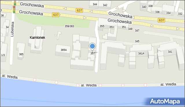 Warszawa, Grochowska, 357, mapa Warszawy