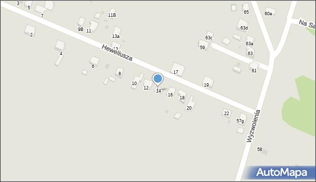 Imielin, Heweliusza Jana, 14, mapa Imielin