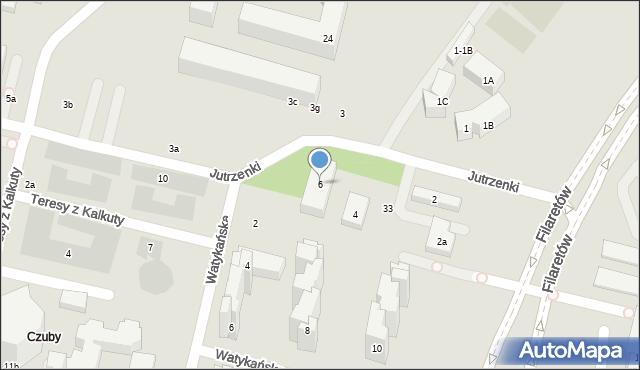 Lublin, Jutrzenki, 6, mapa Lublina