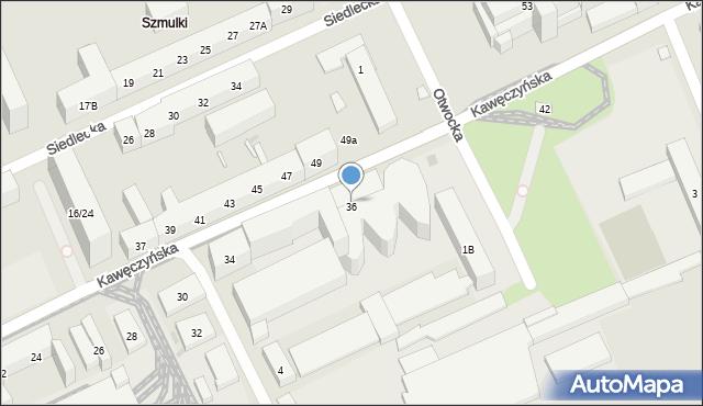 Warszawa, Kawęczyńska, 36, mapa Warszawy