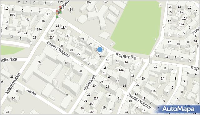 Katowice, Kilińskiego Jana, 5, mapa Katowic