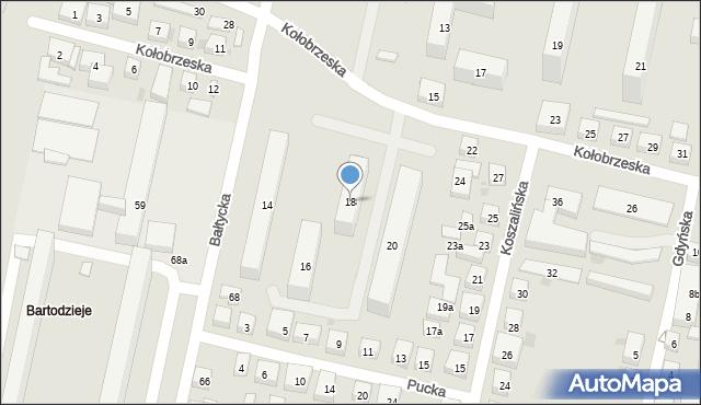 Bydgoszcz, Kołobrzeska, 18, mapa Bydgoszczy