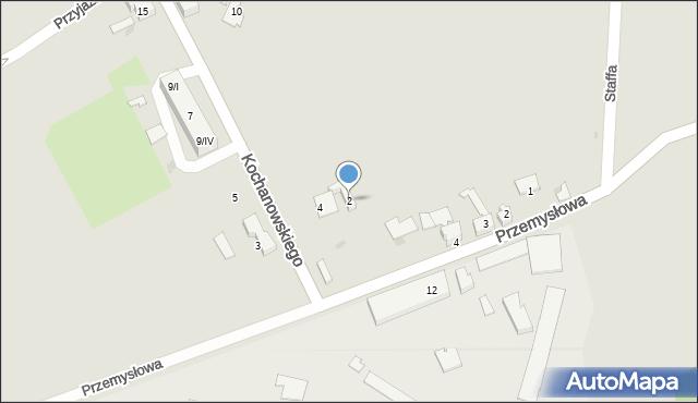 Czerwionka-Leszczyny, Kochanowskiego, 2, mapa Czerwionka-Leszczyny