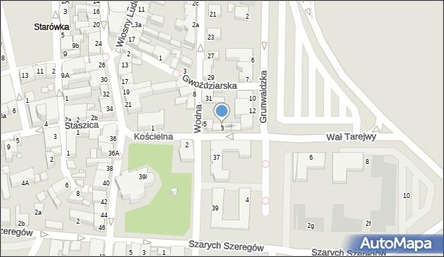 Konin, Kościelna, 3, mapa Konina