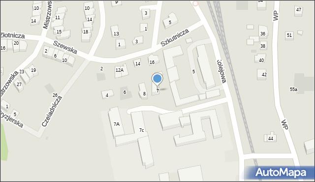 Puck, Kolejowa, 7, mapa Puck