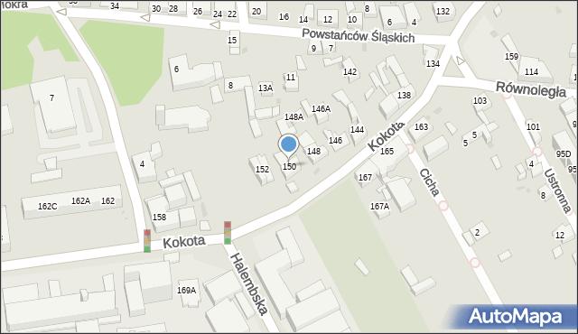 Ruda Śląska, Kokota Edmunda, 150, mapa Rudy Śląskiej