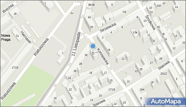 Warszawa, Konopacka, 3/5, mapa Warszawy