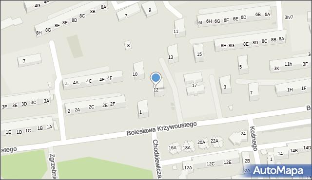 Kędzierzyn-Koźle, Króla Kazimierza Wielkiego, 12, mapa Kędzierzyna-Koźle