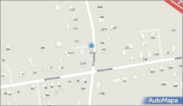 Tarnów, Krzyska, 210, mapa Tarnów