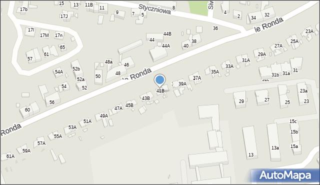 Katowice, Le Ronda Henryka, gen., 41B, mapa Katowic