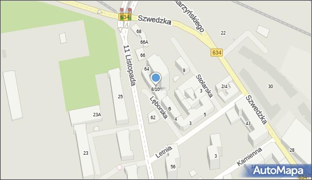 Warszawa, Lęborska, 8-10, mapa Warszawy