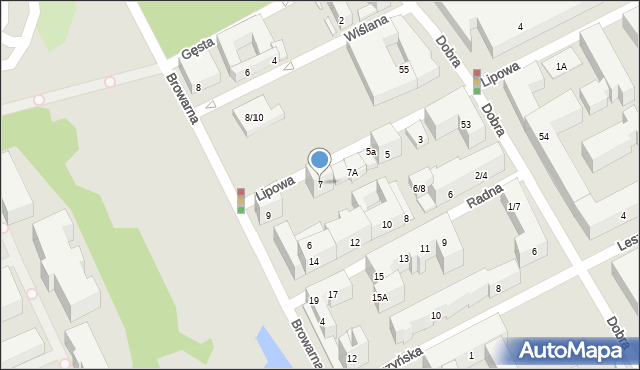 Warszawa, Lipowa, 7, mapa Warszawy