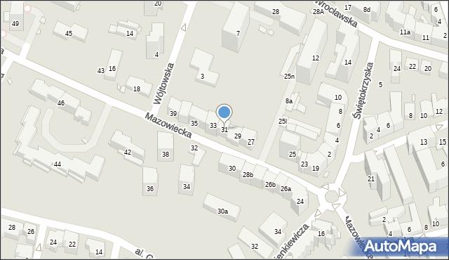 Kraków, Mazowiecka, 31, mapa Krakowa