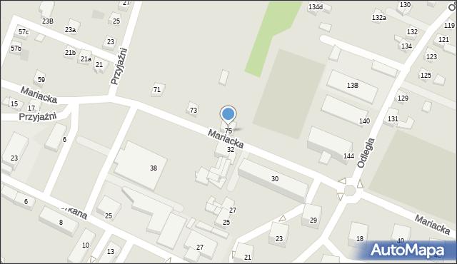 Radlin, Mariacka, 75, mapa Radlin