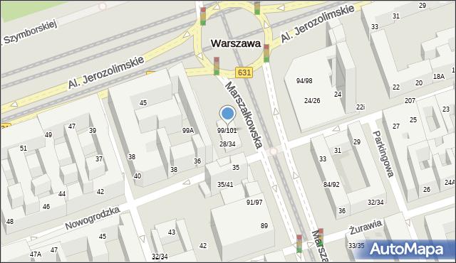 Warszawa, Marszałkowska, 99/101, mapa Warszawy