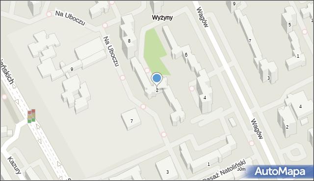Warszawa, Na Uboczu, 2, mapa Warszawy