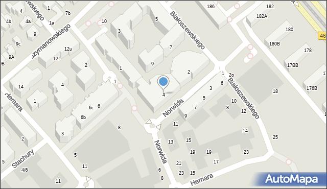 Gdańsk, Norwida Cypriana Kamila, 4, mapa Gdańska
