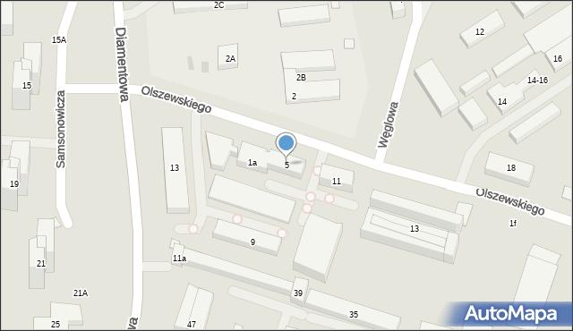 Lublin, Olszewskiego Karola, 5, mapa Lublina