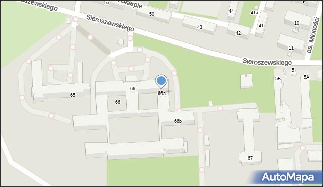 Kraków, Osiedle na Skarpie, 66a, mapa Krakowa