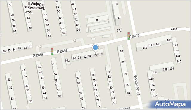 Poznań, Osiedle Armii Krajowej, 90, mapa Poznania