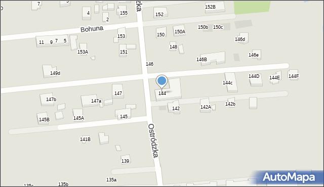 Warszawa, Ostródzka, 144, mapa Warszawy