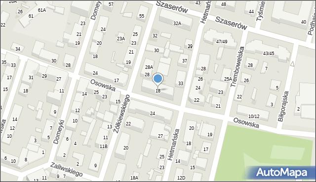 Warszawa, Osowska, 18, mapa Warszawy