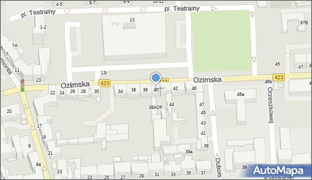Opole, Ozimska, 40, mapa Opola