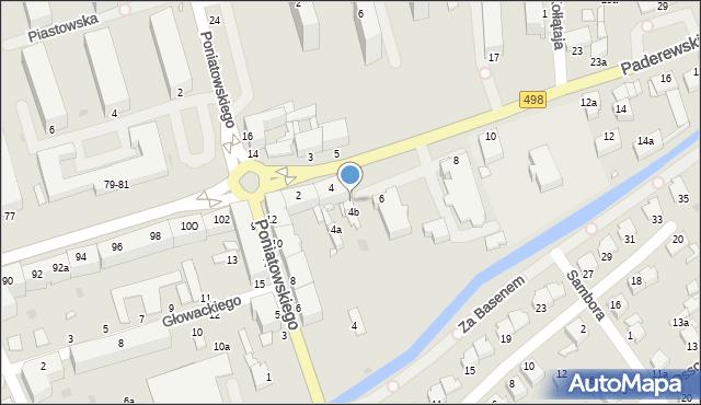 Grudziądz, Paderewskiego Ignacego, 4c, mapa Grudziądza