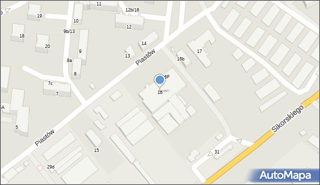 Września, Piastów, 16, mapa Wrześni