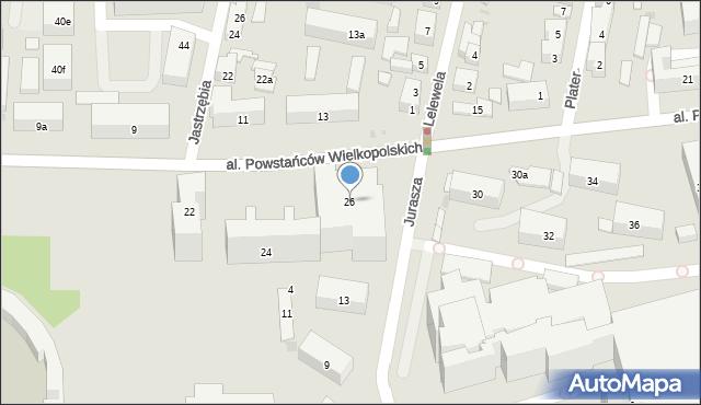 Bydgoszcz, Powstańców Wielkopolskich, 26, mapa Bydgoszczy